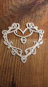 Tekturka Art Deco Heart